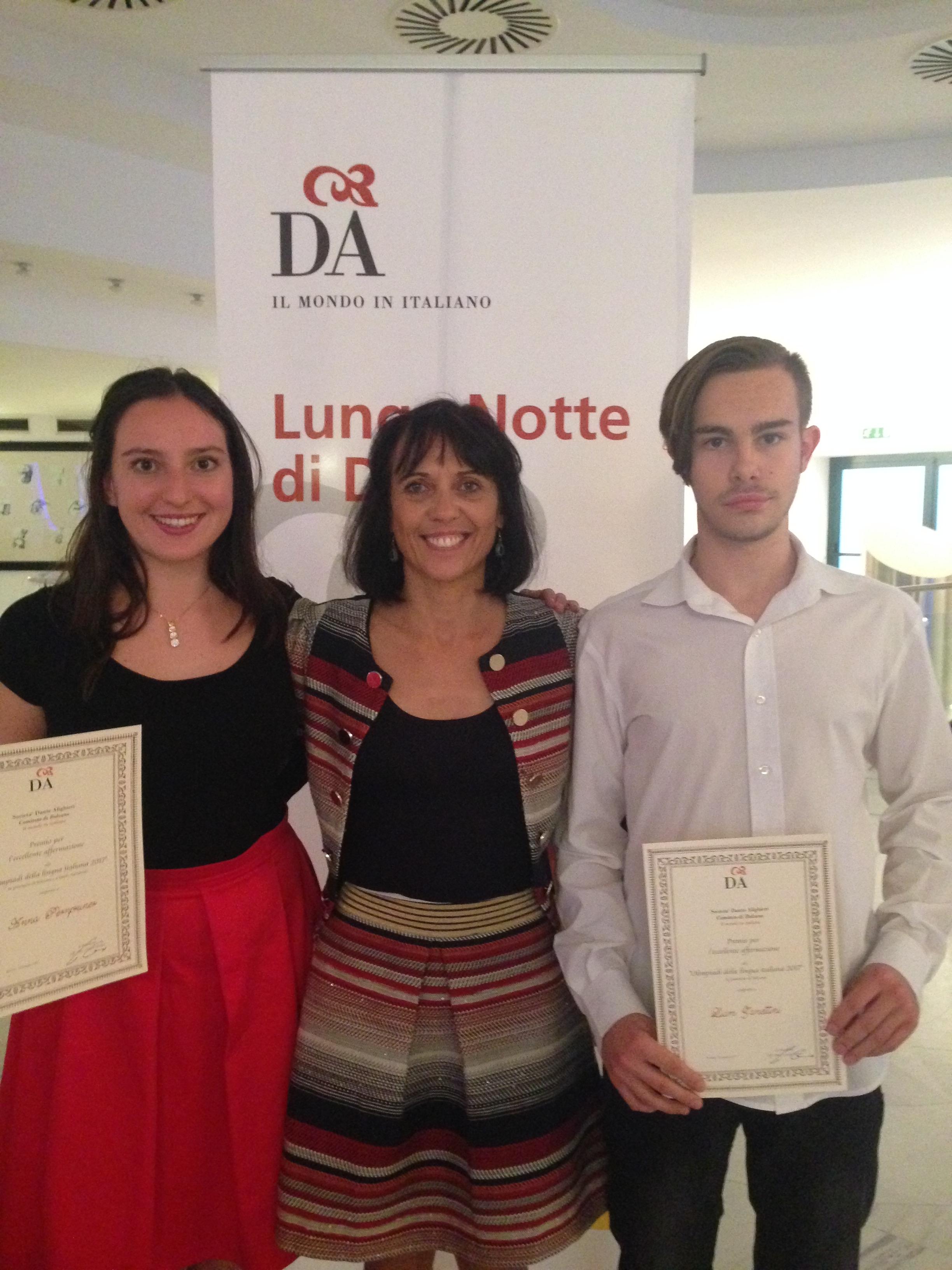Premiazione Giornata della Dante referente