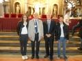 I vincitori con l'Ispettore e il preside Liensberger - Sala del Cinquecento - Palazzo Vecchio