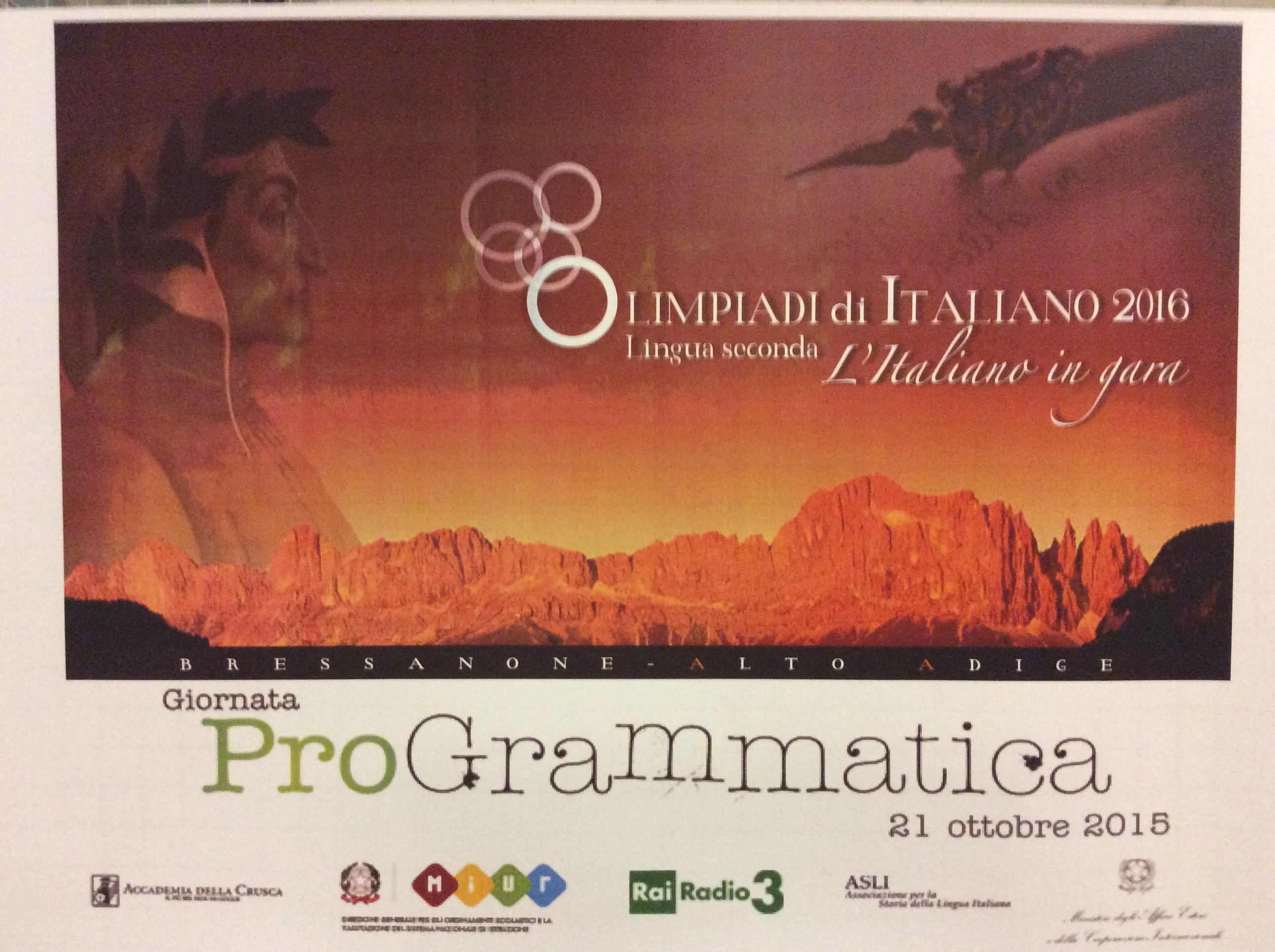 cartellone Olimpiadi - Giornata ProGrammatica