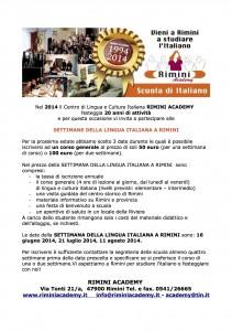 Settimane lingua italiana